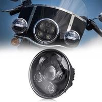 50w 5 75 inch led headlight with hilo beam drl for harley sporster xl 1200 883 dyna glide fat bob street bob motorbike headlamp