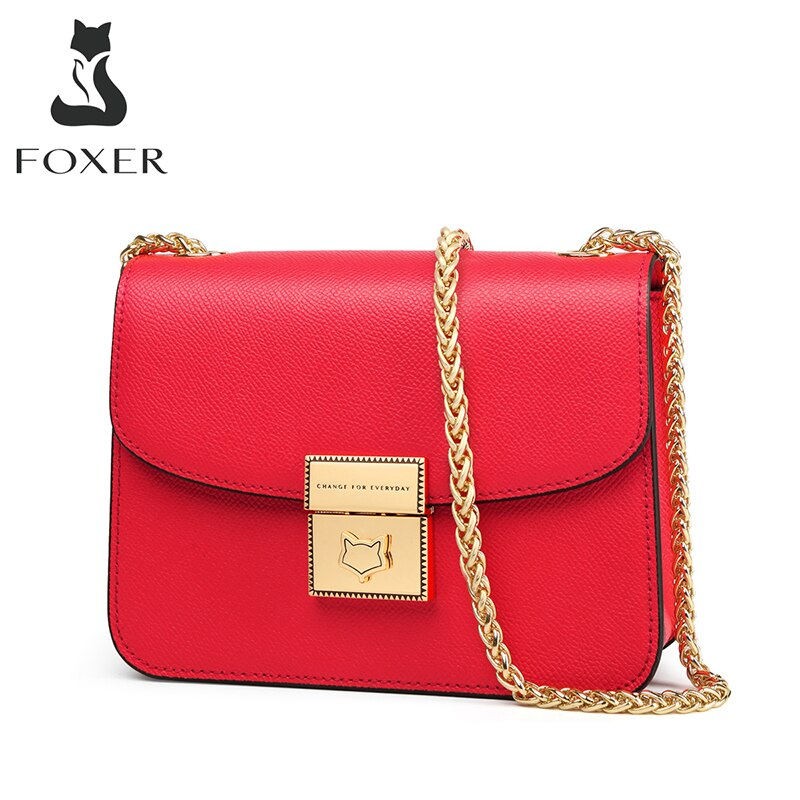 FOXER-حقيبة كتف صغيرة عصرية للنساء ، حقيبة يد صغيرة ، حقيبة مصممة ، كلاسيكية