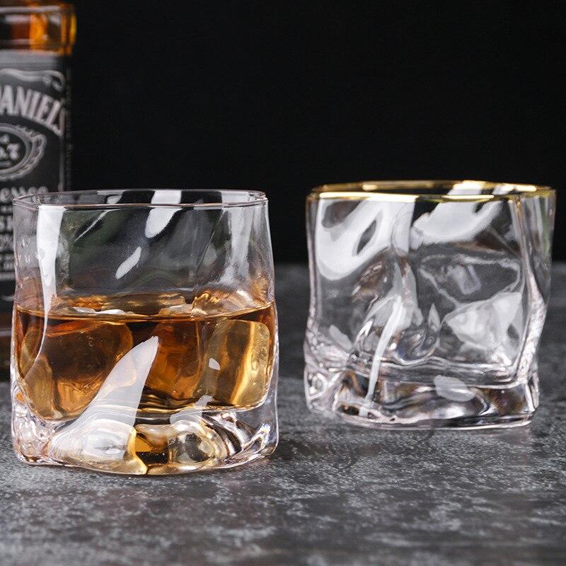 Criativo uísque vidro transparente canecas bebendo copos de borosilicato do agregado familiar 280ml copos copo de licor drinkware para adultos