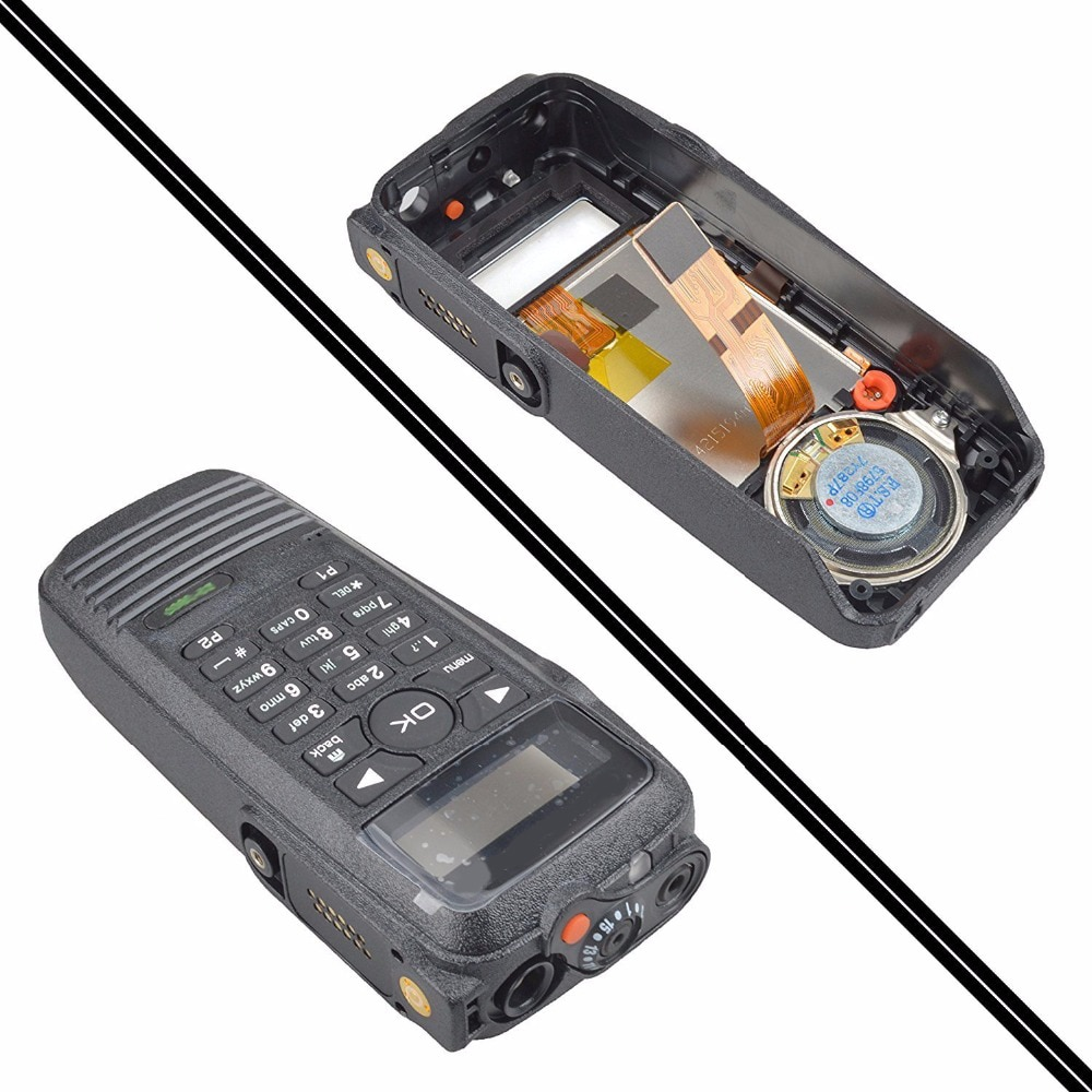 PMLN4646-غطاء أمامي لجهاز اتصال لاسلكي ، لوحة مفاتيح وشاشة ، راديو ثنائي الاتجاه ، لموتورولا XPR6550 DP3600 ، أسود
