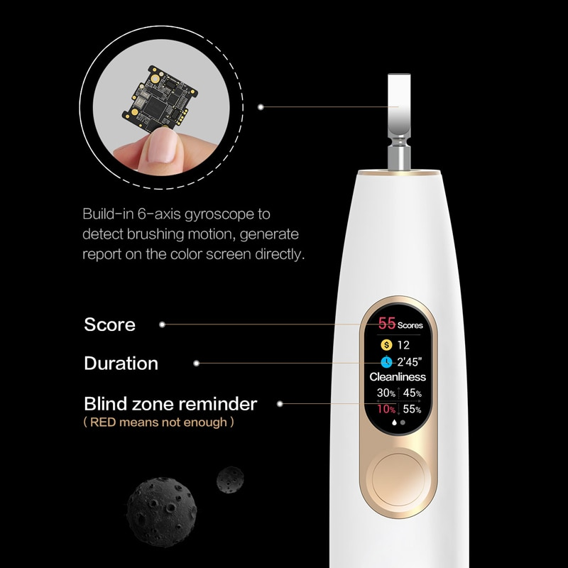 Oclean X The world's first smart color screen touch electric toothbrush, suitable for adults with IPX7 waterproof charging enlarge