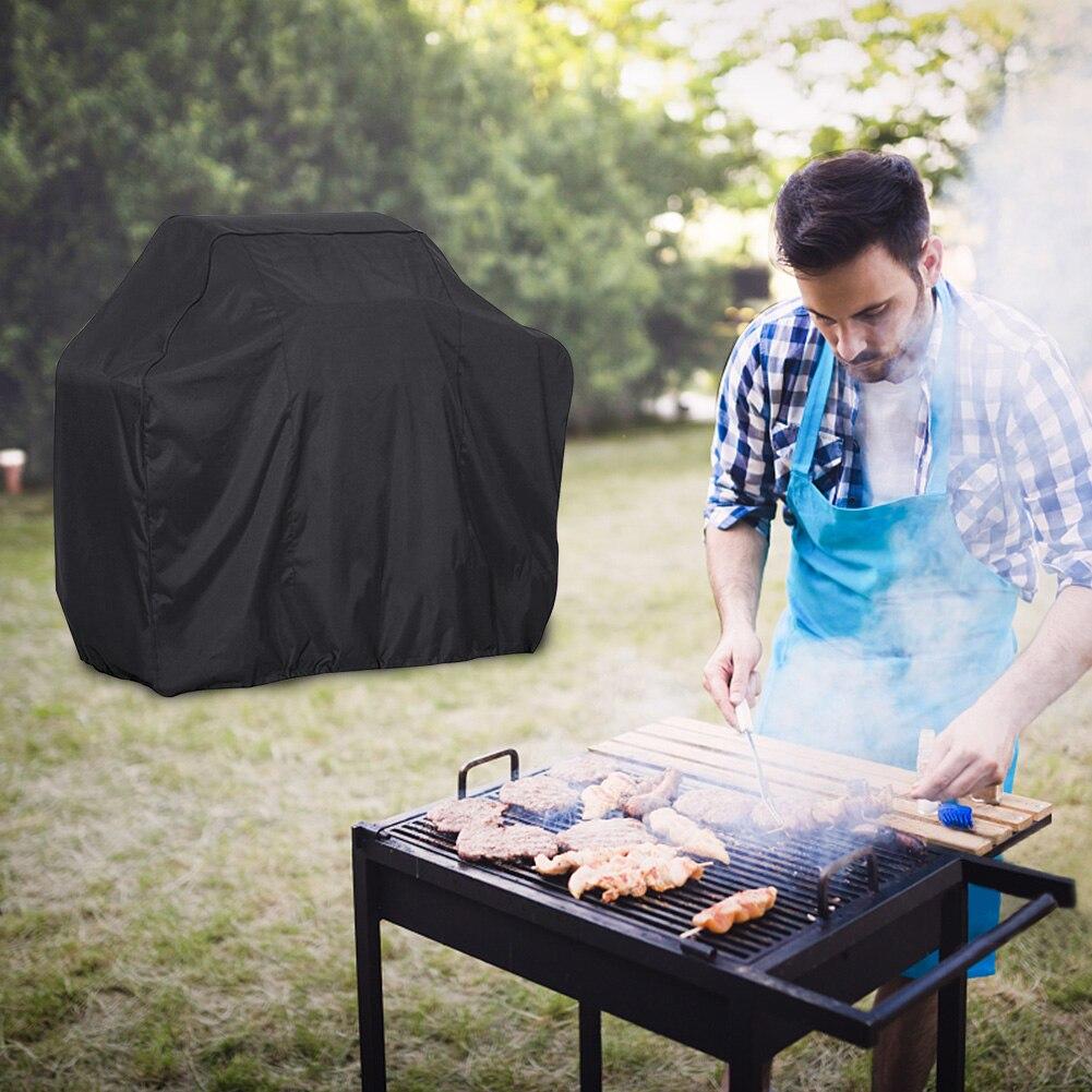 Barbacoa cubierta negro protector solar impermeable accesorios de Barbacoa parrilla cubierta de...