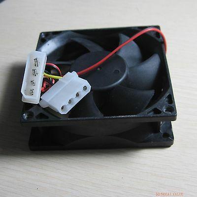 80 ミリメートルコンピュータpcのデスクトップケースファン冷却クーラー静音 4pin電源ソケットジャック