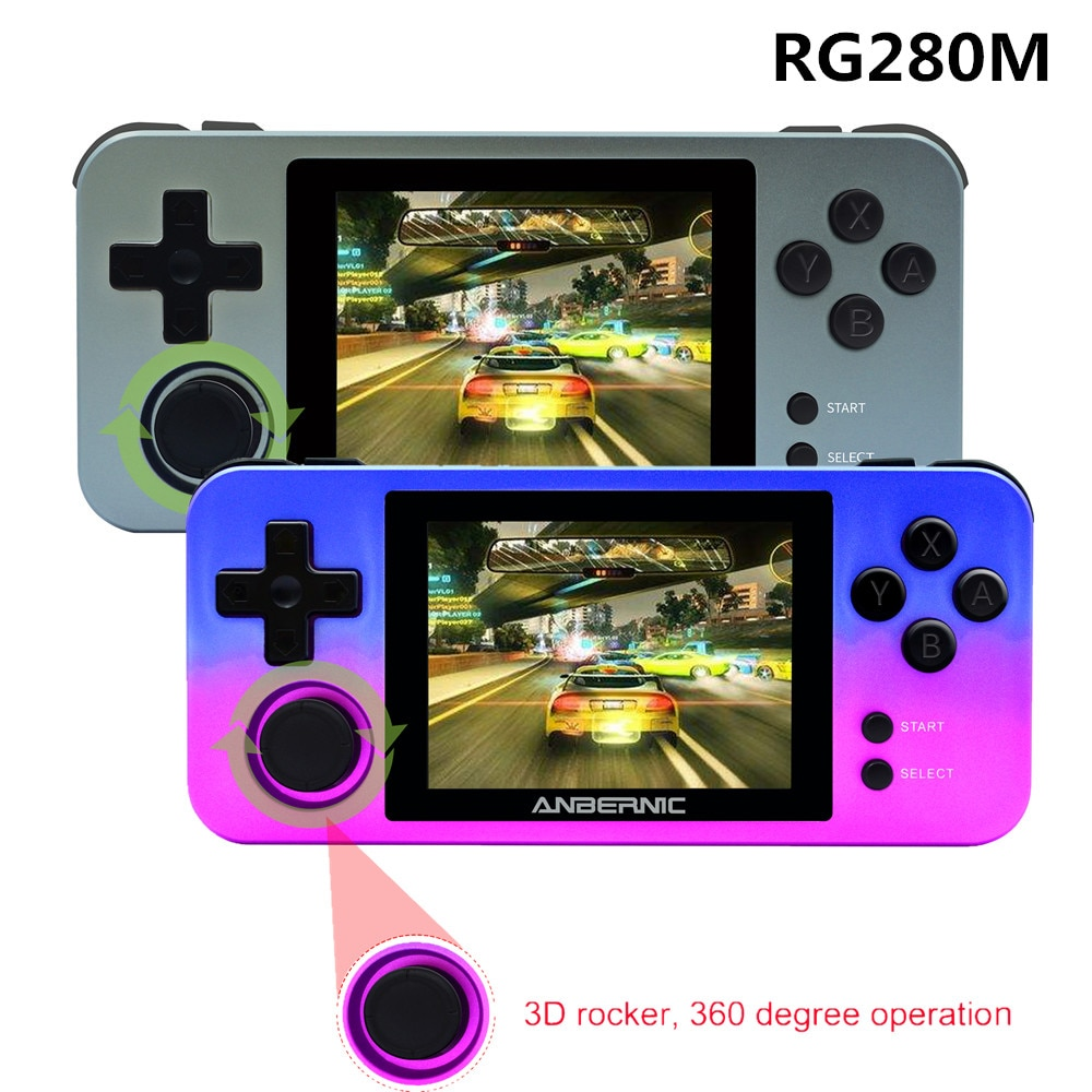 RG280M  Handheld Game Player 3.5 Inch screen Metal Shell Open Source System retro ps1 arcade 3D games Portable Game console