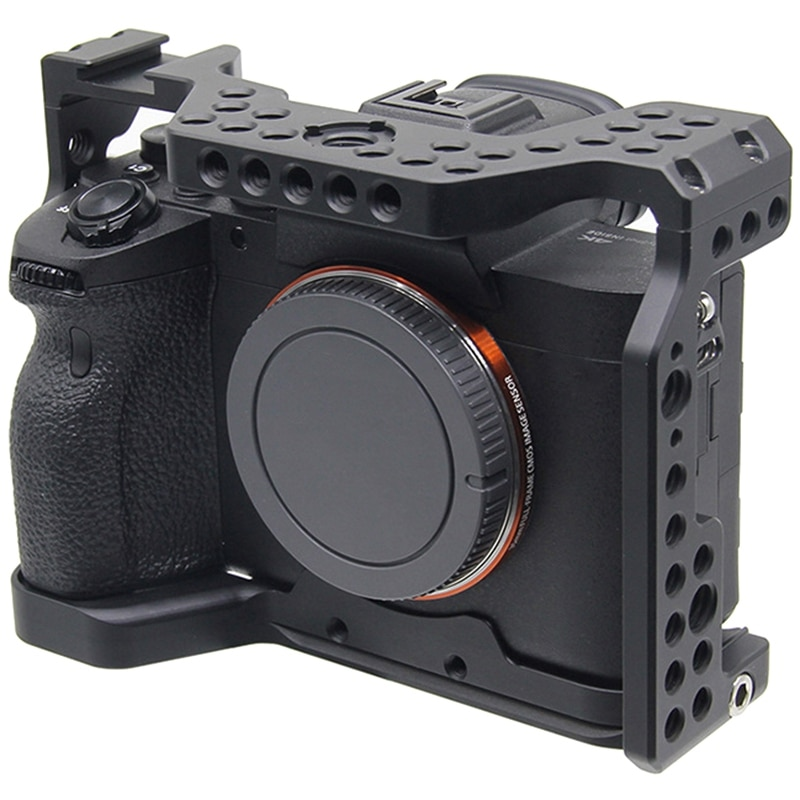 Алюминиевый сплав камера клетка видео стабилизатор крепление для sony A7R4 камера защитная крышка корпуса ручка кронштейн аксессуары