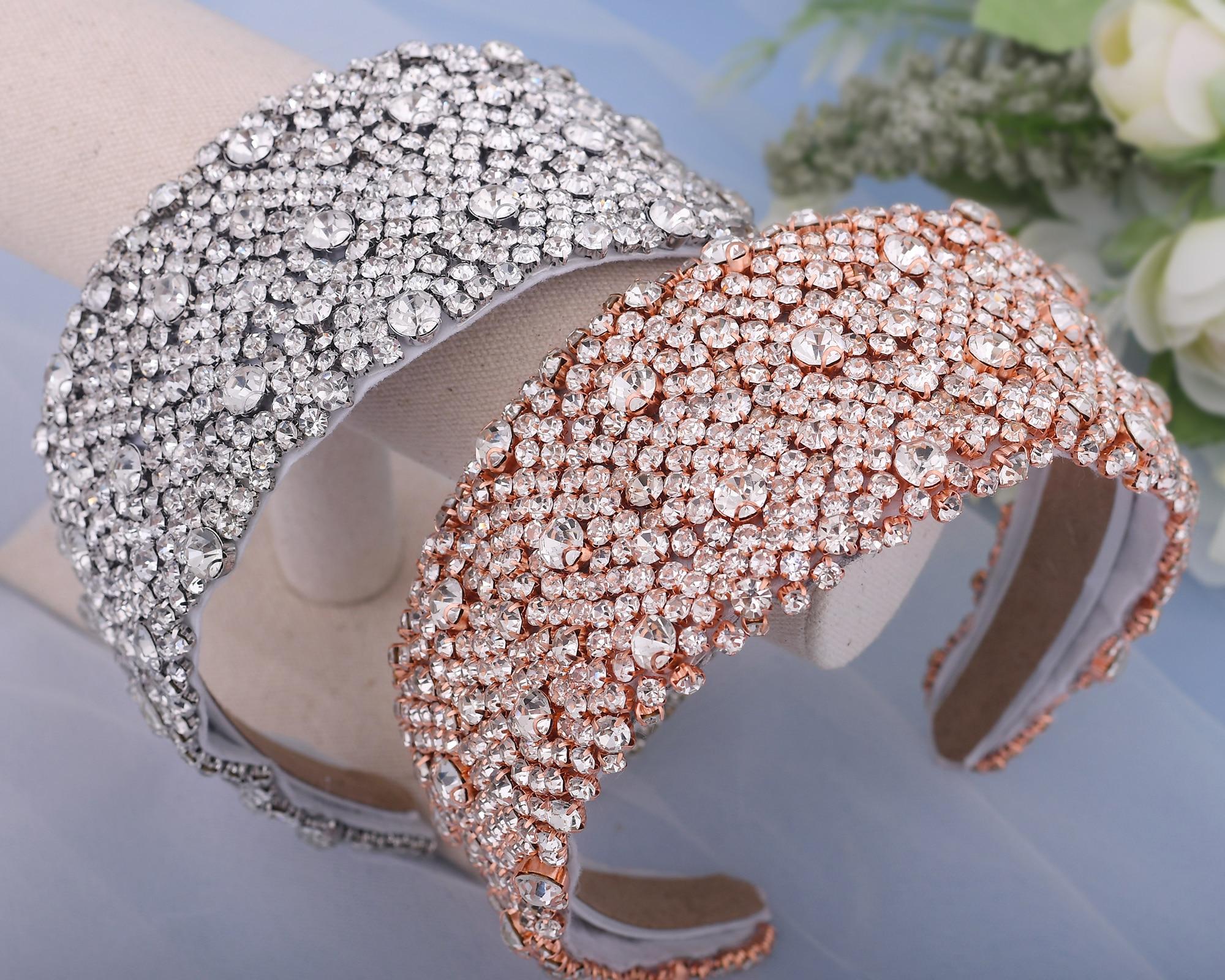 ZMHP363-إكسسوارات شعر العروس الفاخرة ، مع أحجار الراين والكريستال ، للزفاف ، والحفلات الراقصة ، وعقال هدية لصديقتك