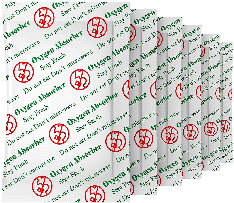 300 куб. См (50 упаковок) безопасные для продуктов Кислородные поглотители для хранения продуктов питания