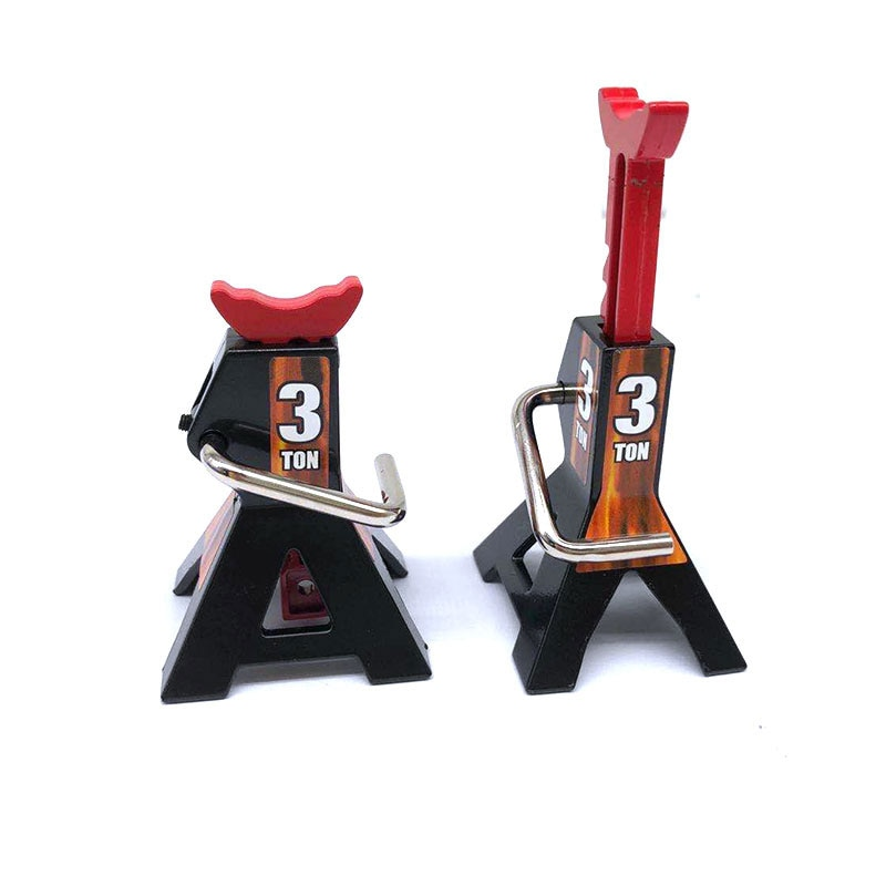 2Pcs Metal 3 Ton Mini Jack Stands Height Adjustable Repairing Tool for 1/10 RC Crawler Truck Trx-4 Trx4 Axial SCX10 enlarge