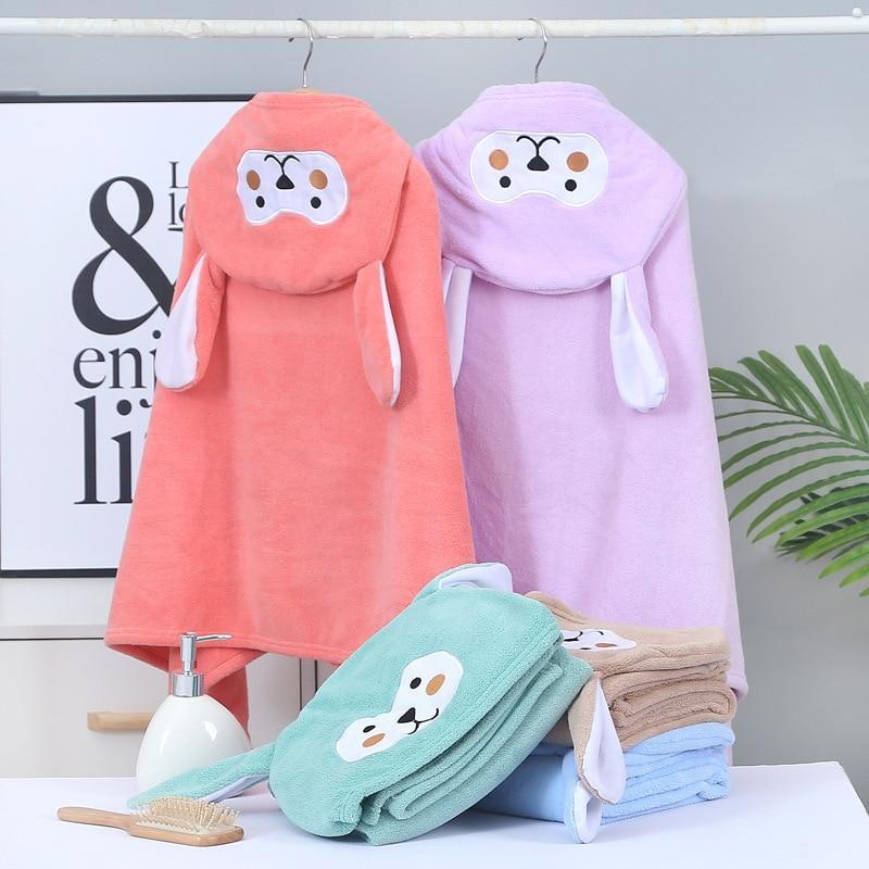Детское банное полотенце с мультяшным рисунком, мягкий Халат с капюшоном для детей, для мальчиков и девочек, плавательное полотенце, одеяло для купания для маленьких мальчиков, детское банное полотенце