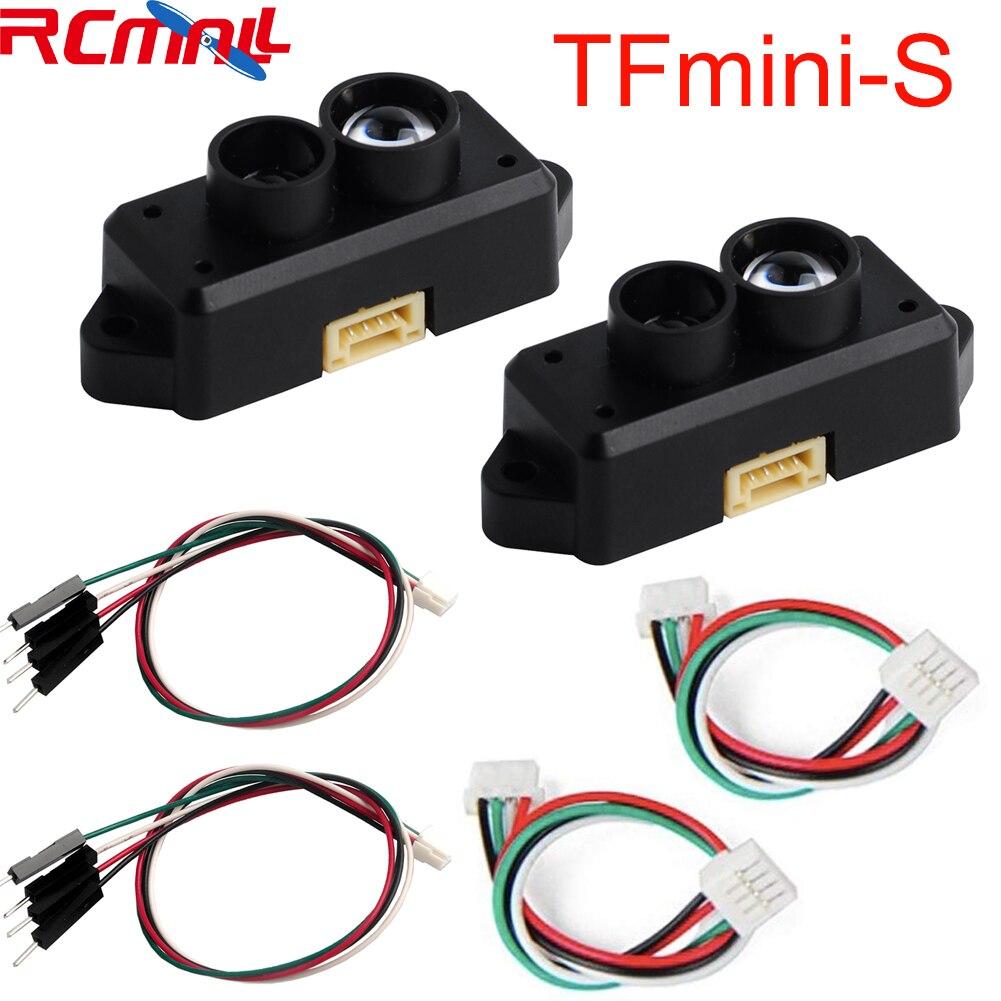 2 uds 0,1-12-12 m TFmini-S Lidar Range Finder Módulo de Sensor de TOF único punto Micro van para Arduino Pixhawk Robot Drone UART y la CII