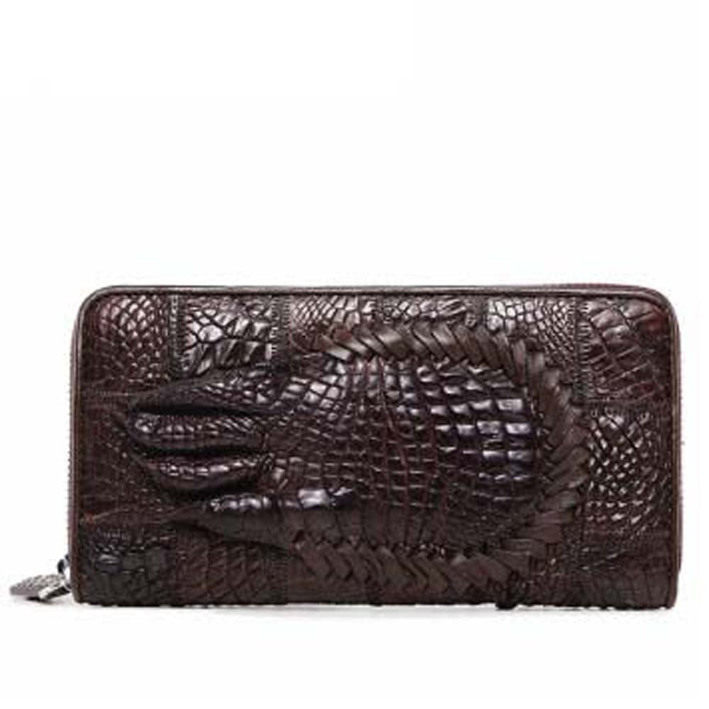 menggeka new crocodile  handbags  male  business  long  male wallet   Hand bag  crocodile claws  card houlder men clutch bag