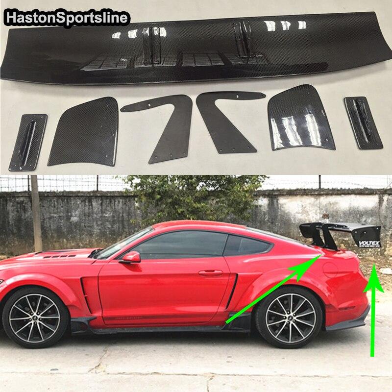 Mustang Voltex estilo de fibra de carbono posterior cuerpo equipo alerón del maletero para Ford Mustang 2015-2017 estilo de coche