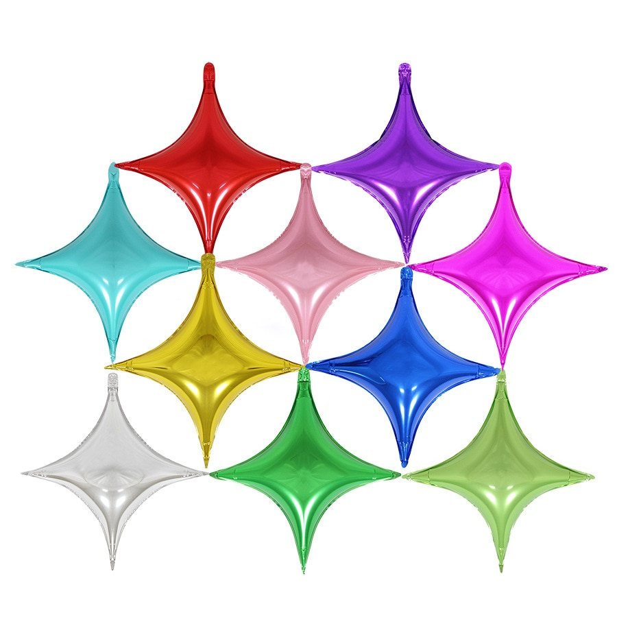 5pcs/10pcs 10inch small four-pointed star aluminum film balloon birthday party wedding decoration star balloon happy new year