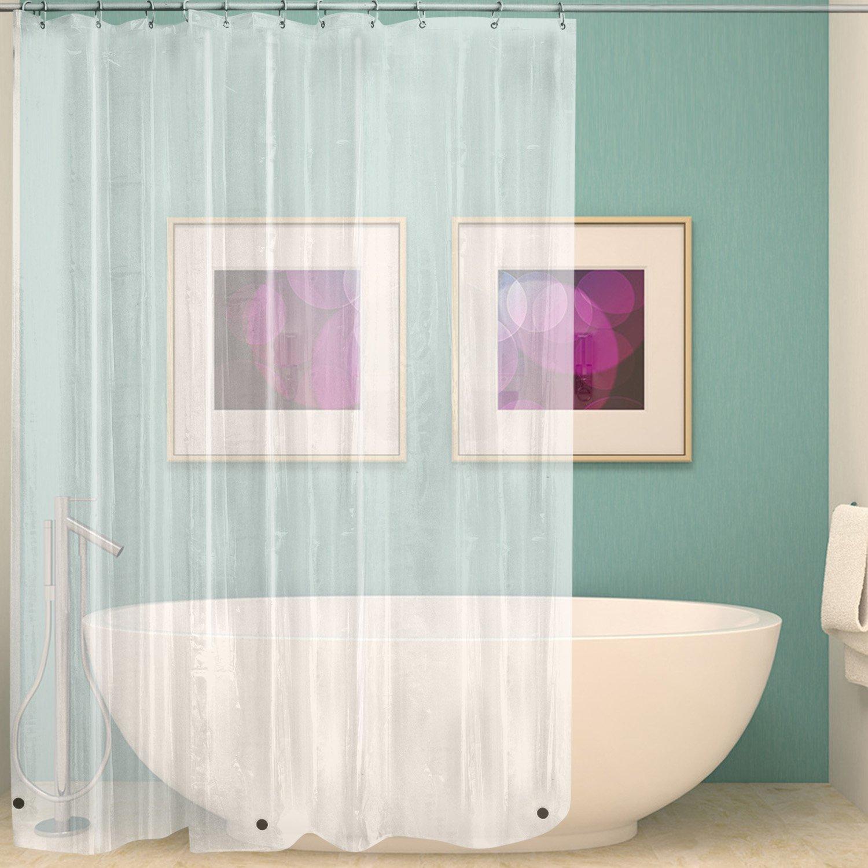 Cortina de ducha transparente, cortina de baño transparente a prueba de moho, cortina de baño decorativa para el hogar DW356