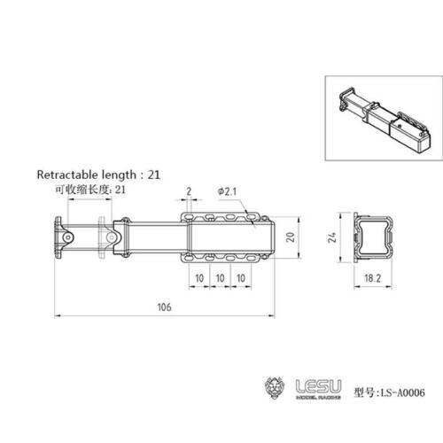 US Stock RC 1/14 LESU Metal Electric Lifting Legs of DIY TAMIYA Hydraulic Trailer Truck enlarge