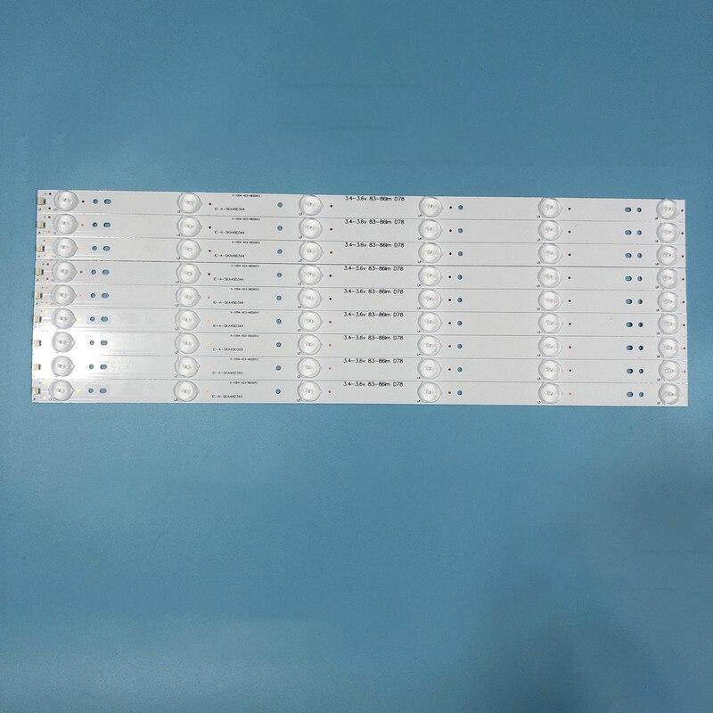 جديد كيت 10 قطعة 6LED 480 مللي متر LED الخلفية قطاع ل LC490DUJ-SHA2 5800-W49001-1P00 5800-W49001-2P00 0P00 DP00 5850-W50007-1P00
