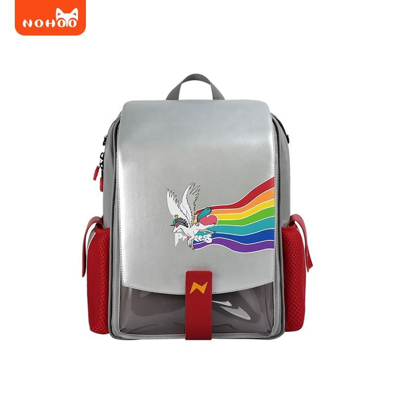 Nohoo рюкзак школьный мальчик ранец ортопедический портфель в школу 1-5 класс аниме сумка детская рюкзак школьный женский Водонепроницаемые П...