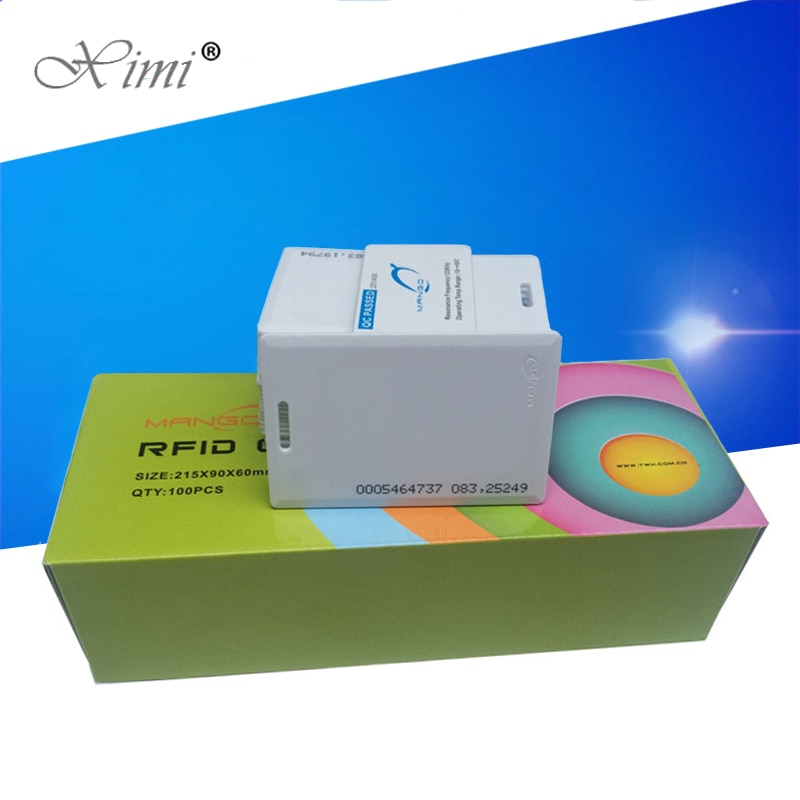 125KHZ / 13.56MHZ RFID Card Smart Proximity Card For Access Control And Time Attendance System TK4100/TKS50 chip EM/MF RFID card