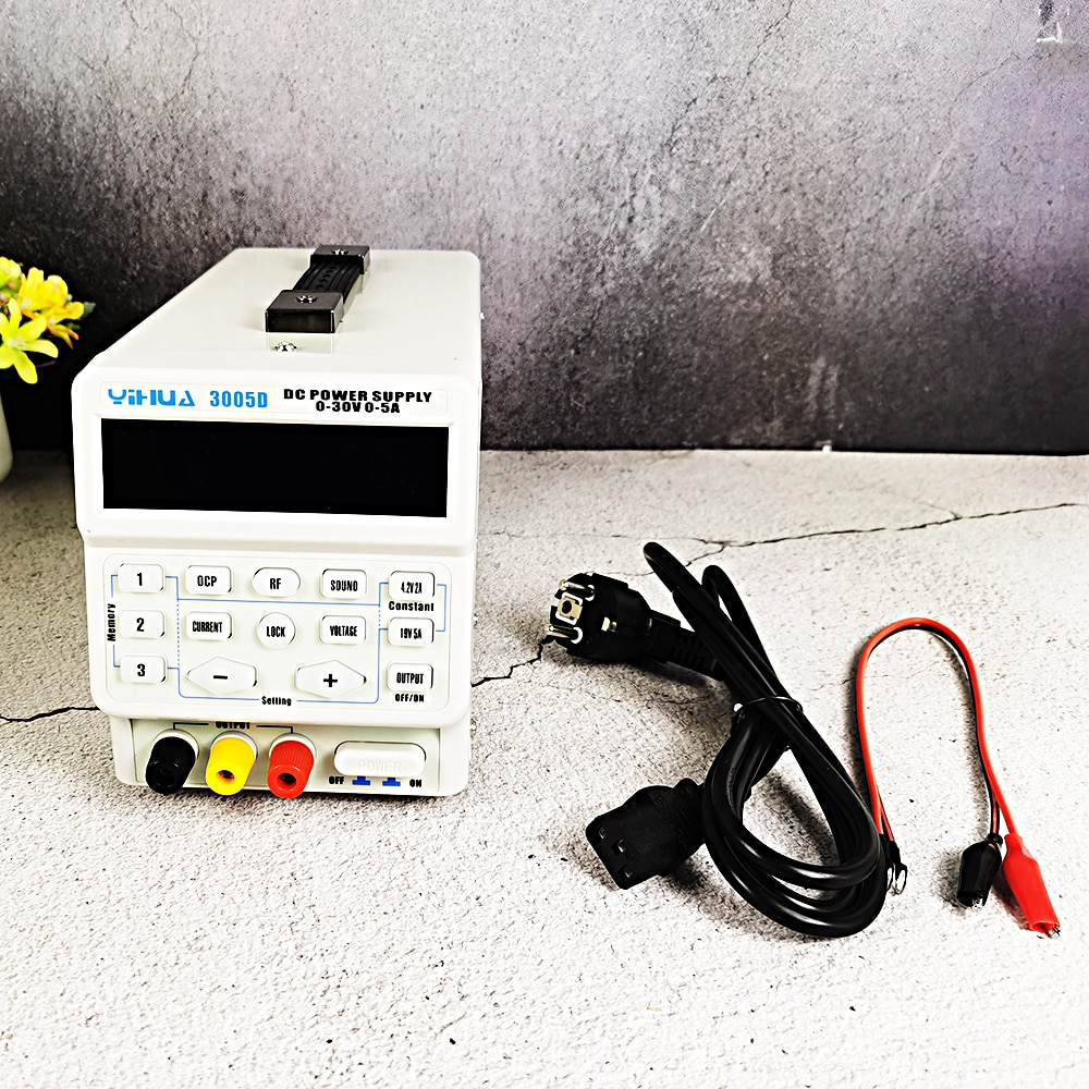 150W 30V 5A DC Power Supply Start Lock Key Memory Storage Three Data Sets OCP Overload YIHUA 3005D For Phone Computer Repair enlarge