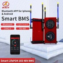 Smart BMS 16S Bluetooth dispositivo di 48V Ad Alta Corrente 485 a USB + CAN + NTC + UART togther leone LiFePO4 LTO Batteries2.3V/2.4V conn