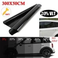 50cmx300cm car window foils tint tinting film roll black car auto home window glass summer solar uv protector sticker films