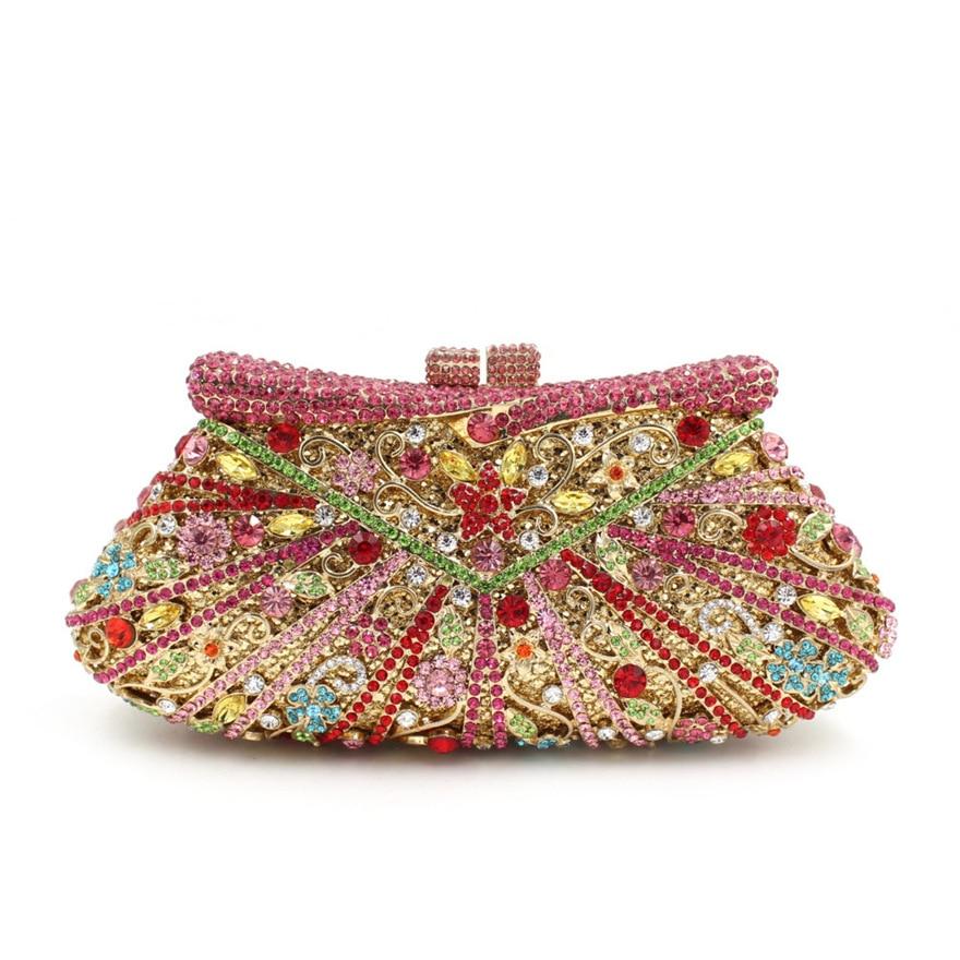 حقيبة يد نسائية من الكريستال الماسي ، حقيبة سهرة بتصميم الزفاف ، مجموعة جديدة