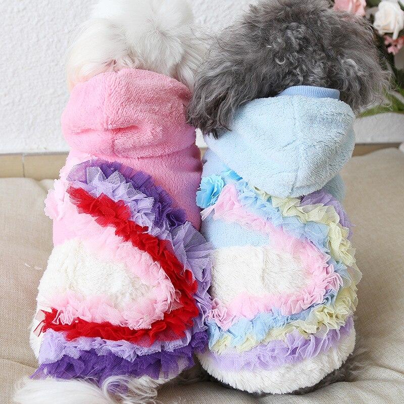 Ropa de perro espesar chaquetas de abrigo de mascota chaqueta de invierno abrigo sudaderas con capucha ropa para Chihuahua pequeño cachorro medio Yorkshire 10