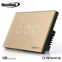 us standard 123 gang remote switch smart control on off for smart home smart wall touch switch smart lamp switch