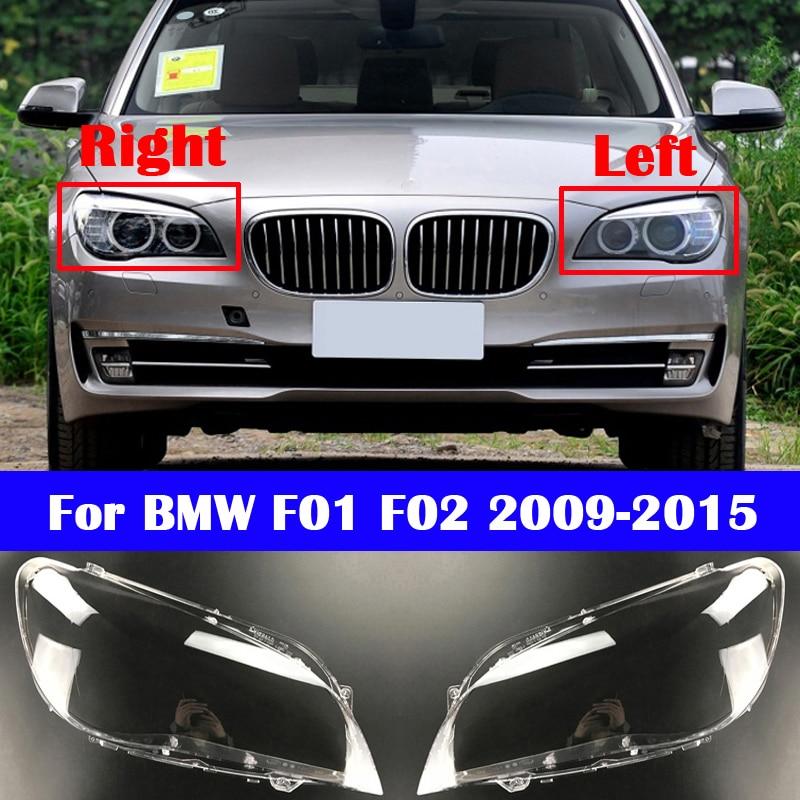 For BMW 7 Series F01 F02 2009-2015 730Li 740Li 750Li 760Li Car Front Headlight Cover Lampshade Auto Glass Lens Lamp Caps Shell