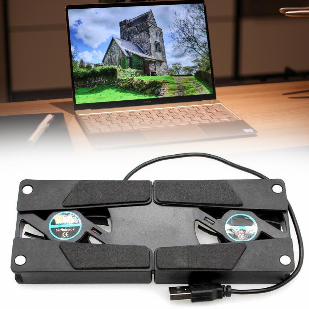 Охлаждающая подставка для ноутбука, 150 мА, двойная Тихая охлаждающая подставка для ПК-осьминога, вентиляторы для ноутбуков, USB, Foldbale I0G8