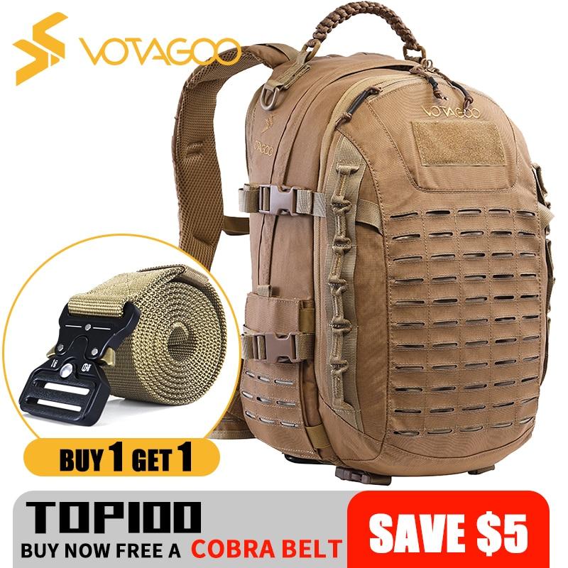 VOTAGOO 35L 500D Cordura Nylon Waterproof  Men's 3 Days Tactical Backpack  Hunting Bag Molle Webbing