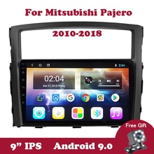 Lecteur DVD autoradio Android 9 pour Mitsubishi PAJERO V97/V93 2009-2014 2015 2016 Radio stéréo GPS Navigation DVD avec Canbus