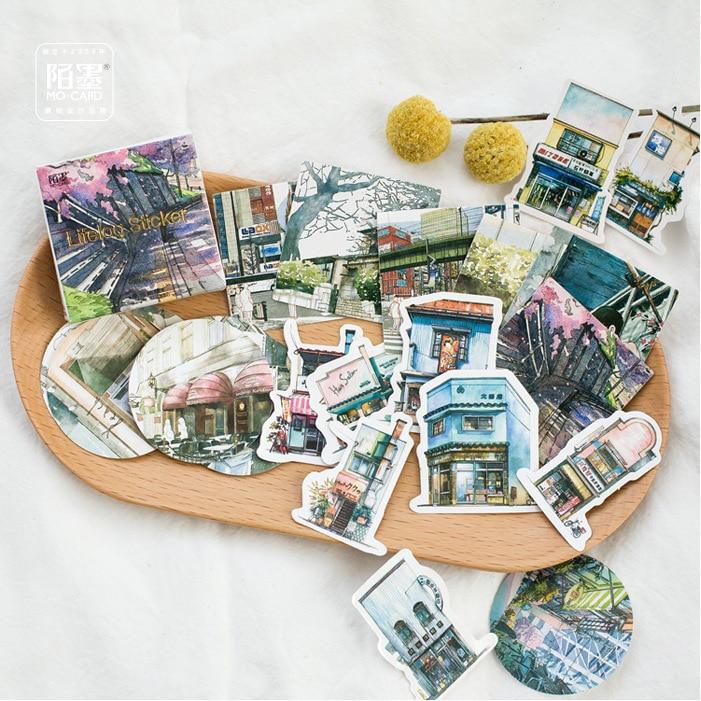 45 Pcs/lot Creative Cute Journey Scenery Mini Paper Sticker Decoration Diy Ablum Diary Scrapbooking Label Sticker Stationey