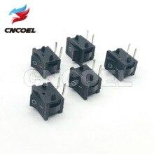 Mini-interrupteur à bascule 20*15MM   5 pièces, 2 broches 2 fichiers, pied incurvé à 90 degrés, bouton-poussoir