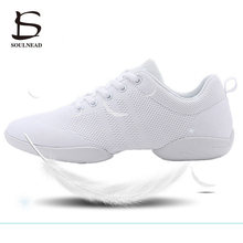 Women's Aerobics Shoes Girls Sneakers Lightweight Mesh Breathable Dancing Shoes For Woman Children's