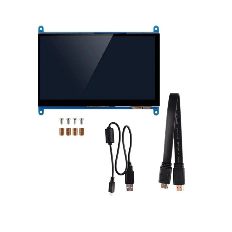 7 zoll Full View LCD IPS Presse Bildschirm 1024X600 HD HDMI Display Monitor für Raspberry Pi LCD-Monitore    -