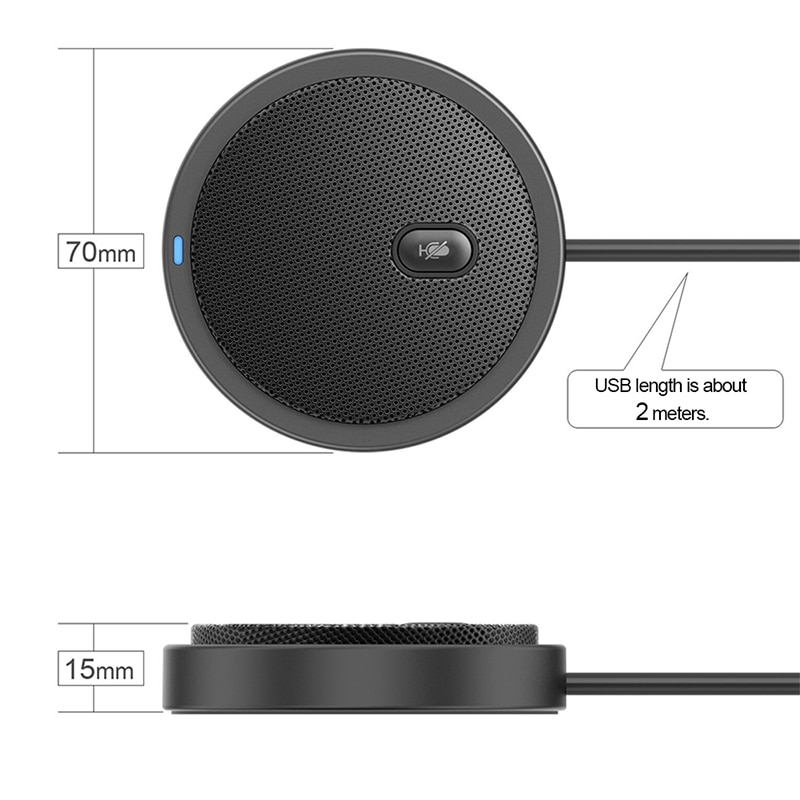360 Pick up sound video voice call USB Omnidirectional Microphone Video Conference Microphone Network Live Microphone enlarge