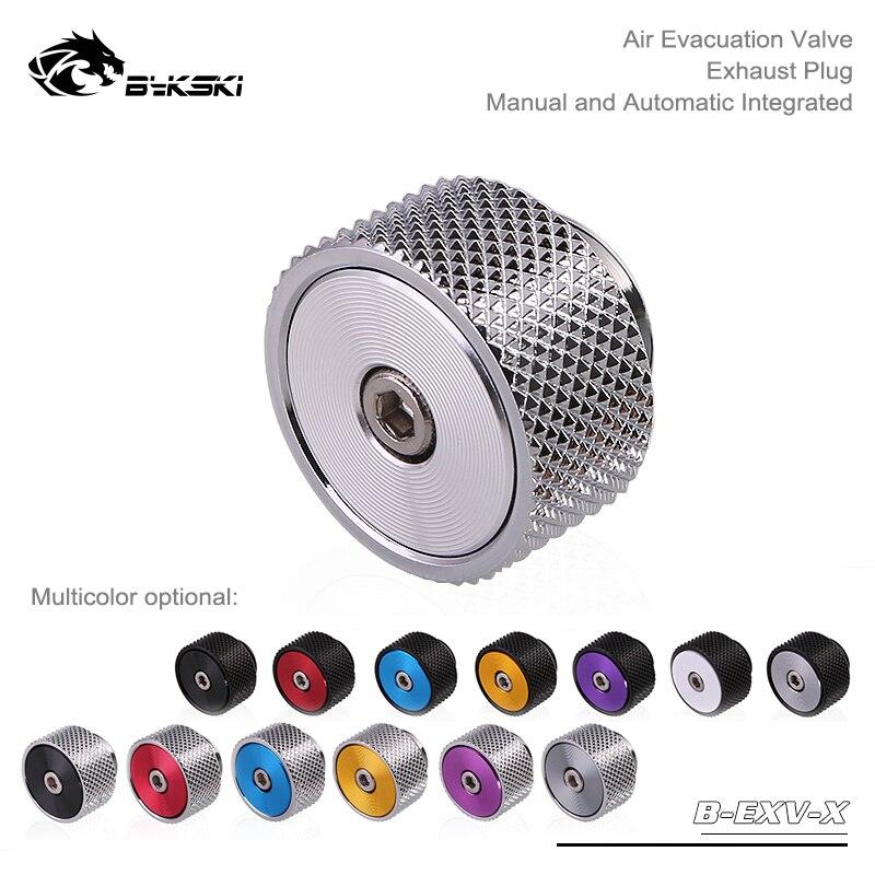 Bykski B-EXV-X boutique cd padrão, válvula de evacuação de ar, plugue de escape, pressionando a exaustão manual e liberação automática da exaustão