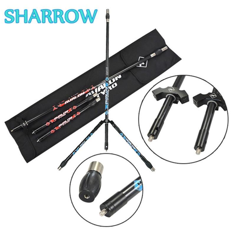 1Set Archery Carbon Stabilizer Set Balance System V Bar Lond Side Rod Dampener For Bow Shooting Practice Training Accessories