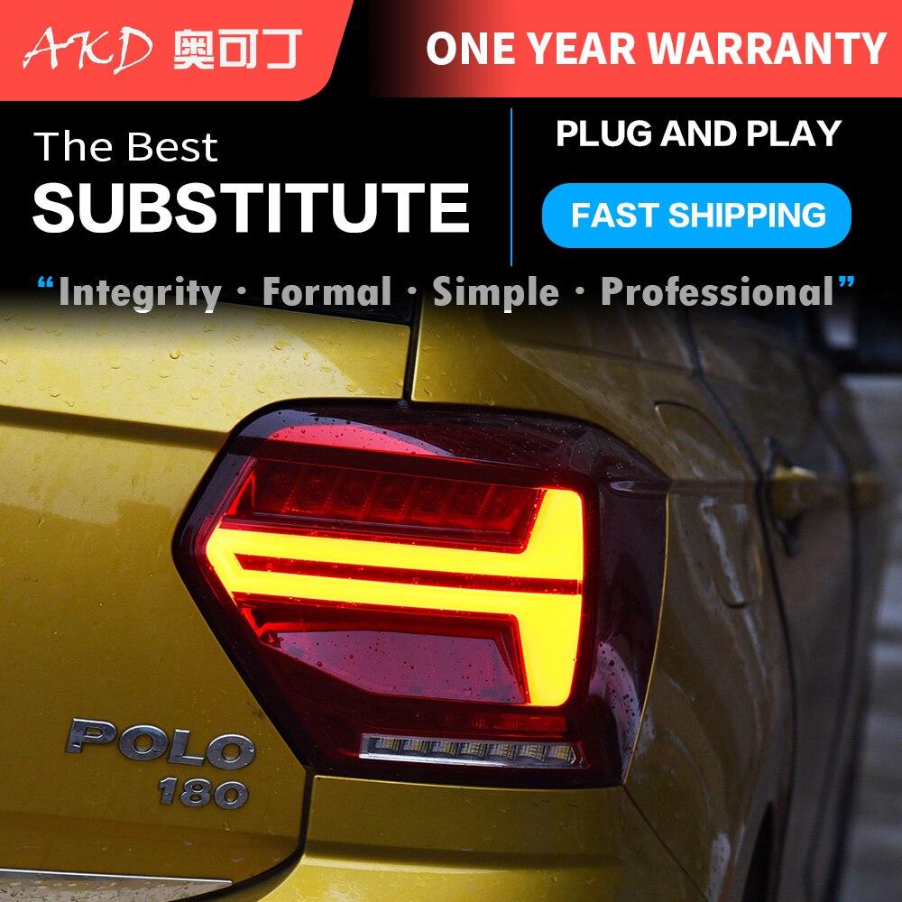 سيارة أضواء خلفية قطع تبديل للسيارات لشركة فولكس فاجن جديد بولو 2018 2019 2021 المصابيح الخلفية لمبة خلفية LED إشارة عكس أضواء وقوف السيارات