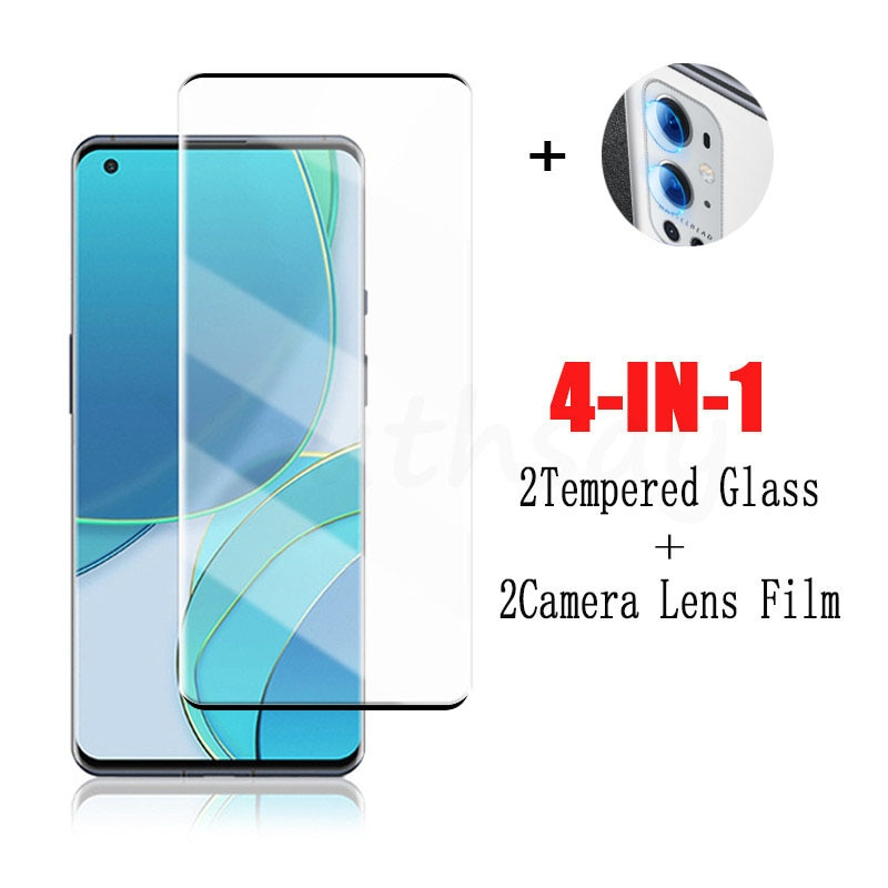 Full Cover Glass For OnePlus 9 Pro Tempered Glass For OnePlus 9 8 Pro Screen Protector Phone Protective Film For OnePlus 9 Pro
