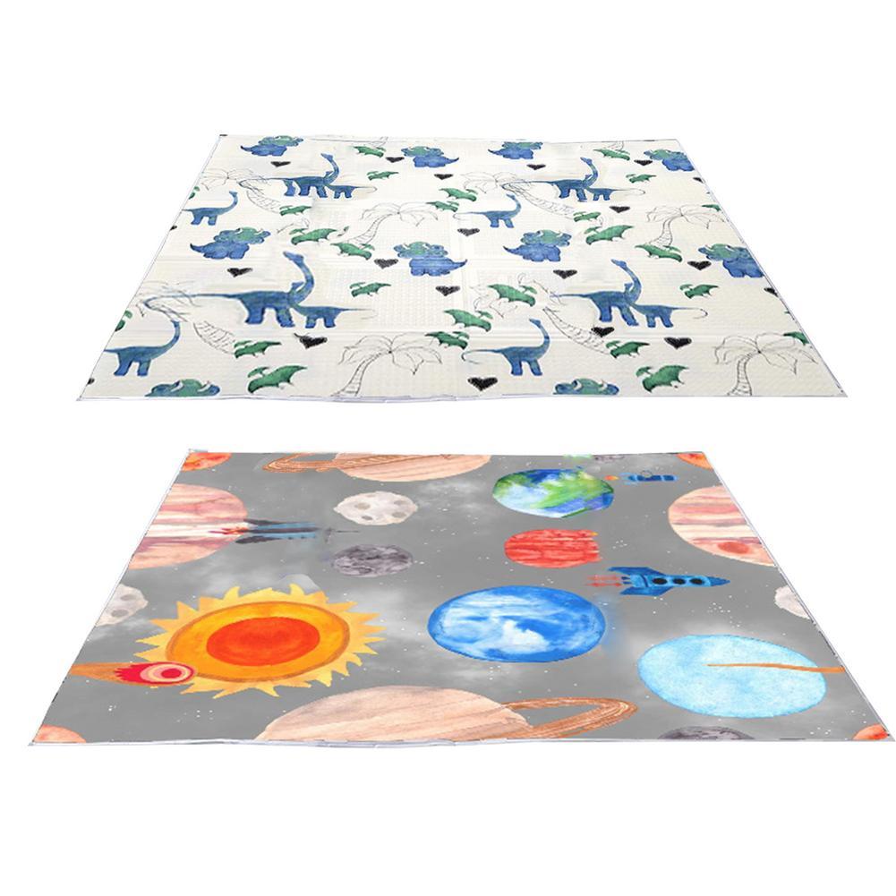 Напольный коврик для высоких стульев, водонепроницаемые защитные коврики для детей, силиконовые Нескользящие нескользящие накладки с муль...