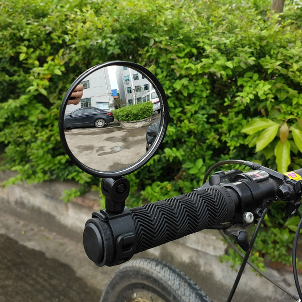 1 pair cycling bicycle rear view mirror flexible handlebar end mirror aluminum alloy lens safety side bike rearview accessories 1 PC Rotate Universal Bicycle Mirror Bicycle Cycling Bike Back Rear View Handlebar Safety Rearview Mirror  Cycling Part