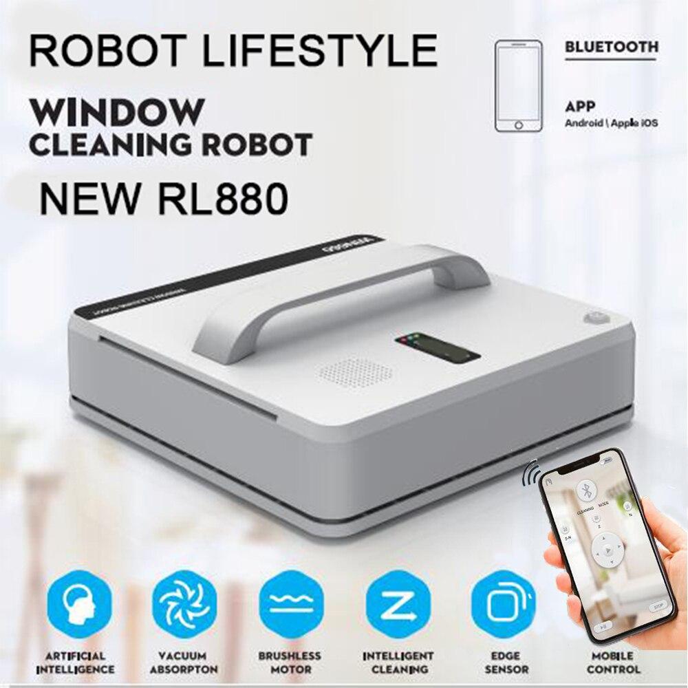 Robot de limpieza de ventanas RL880 aspirador magnético, anticaída, Control remoto, lavado automático de vidrio, 3 modos de funcionamiento WIN660
