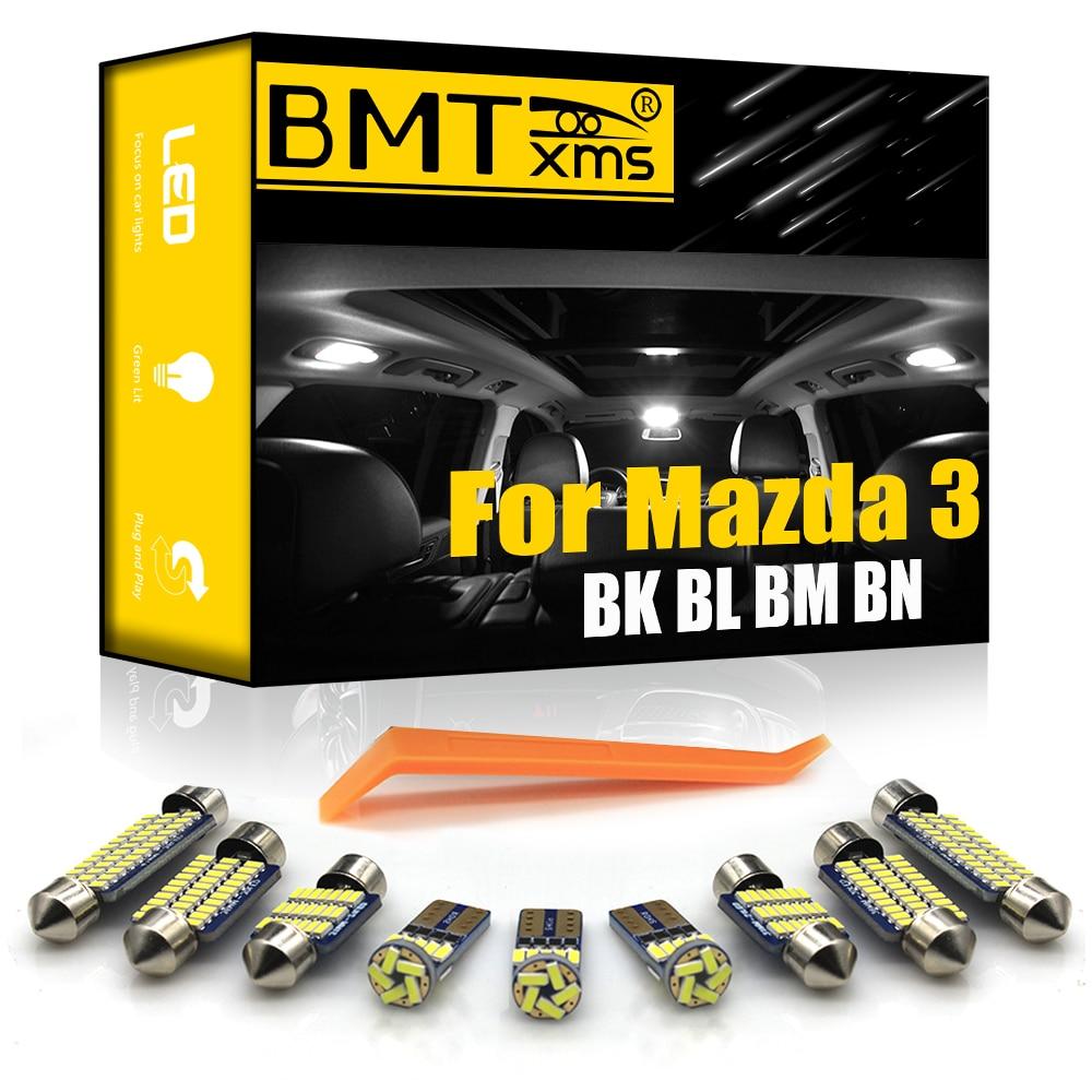 BMTxms Canbus For Mazda 3 BK BL BM BN 2004-2020 Vehicle LED Interior Dome Map Trunk Light Upgrade Kit Car Lighting Accessories