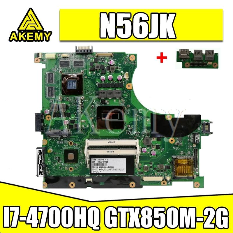 N56JR placa base I7-4700HQ GTX760M-2G para For Asus N56JR N56JK N56J N56 placa base de computadora portátil N56JR placa base N56JR placa base testok