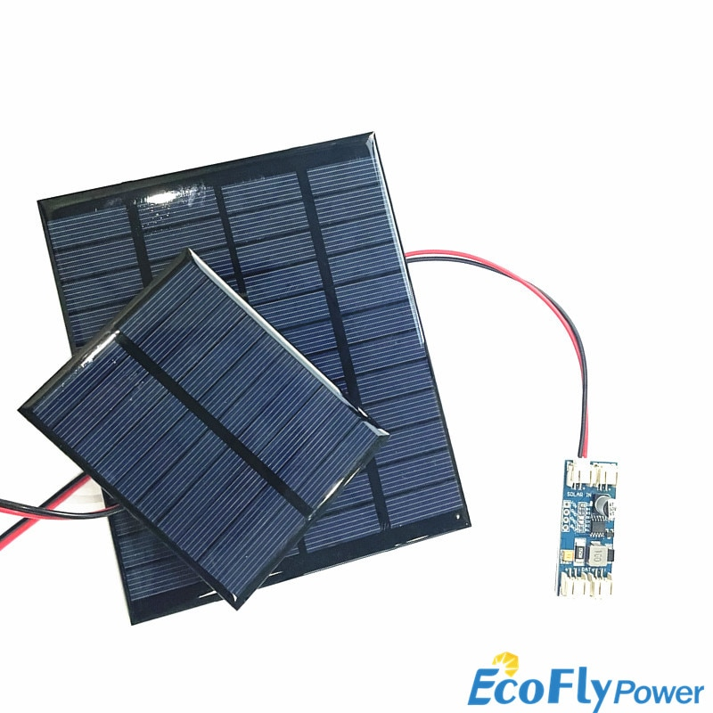 Solar Panel 12V Mini Solar System DIY For Battery Cell Phone Chargers Portable Solar Cell 2W 2.5W 3W with CN3791 solar charger