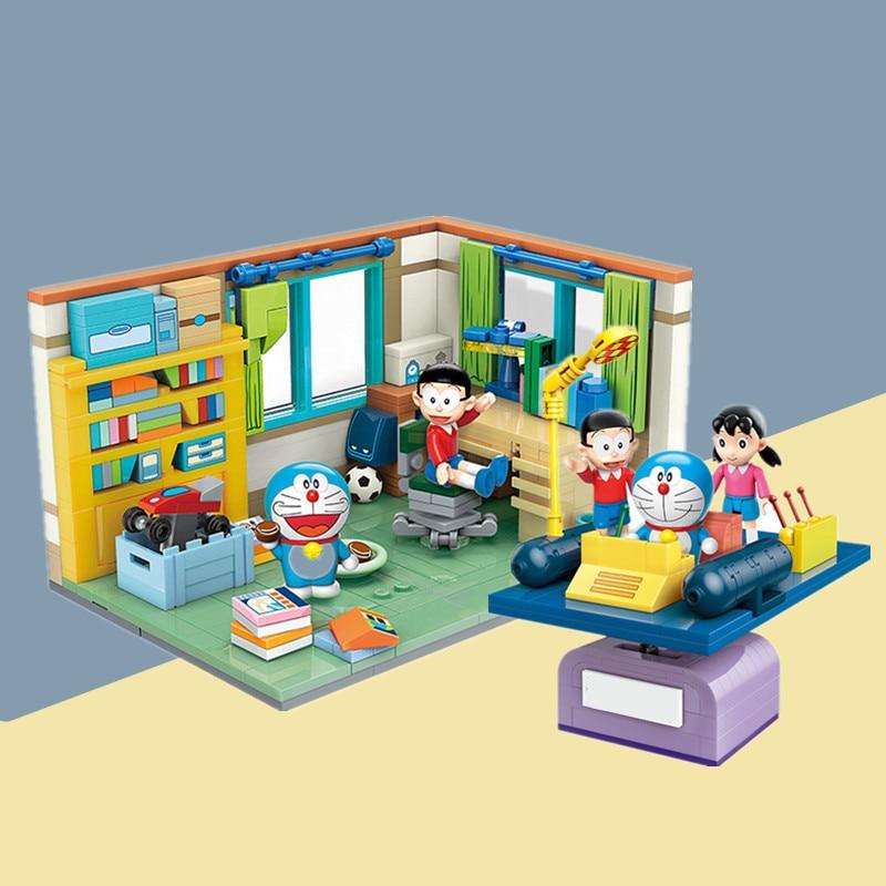 Новый японский классический комикс ТВ аниме Doraemons Nobitas Nobis комната время машина модель строительные блоки кирпичи детская игрушка подарок