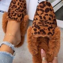 Winter Women Slippers indoor warm Women mulers Slippers Soft Bottom Shoes Women Comfortable Flat Fli