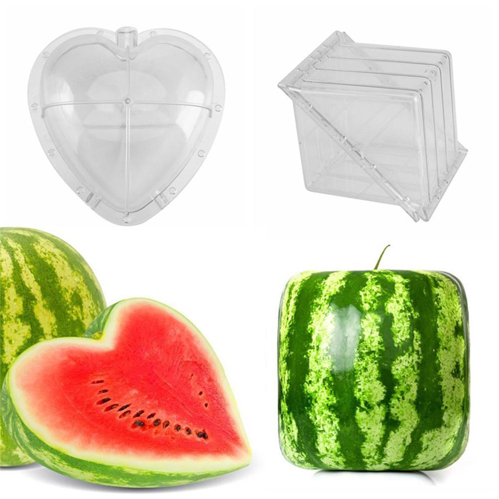 2 шт. квадратный/в форме сердца горшок для растений арбуз форма для выращивания садовых растений лоток для выращивания фруктов формирующая форма